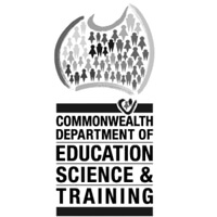 Commonwealth Dept of Education Science & Training logo
